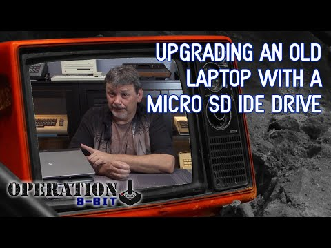How To Upgrade An Old IDE Laptop Hard Drive With a Micro SD Card (IDE SSD)