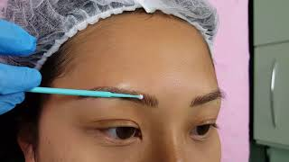 Fluffy Oriental Eyebrows Microblading by El Truchan @ Perfect Definition