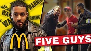 Fake Security Prank At McDonalds & Five Guys!
