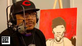 """Artist known as """"Scene"""" Paints discusses J-Dilla at The Smithsonian NMAAHC"""