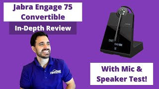 Jabra Engage 75 Convertible In-Depth Review With Mic & Speaker Test!