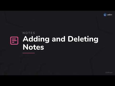 Adding and Deleting Notes