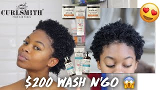 $200 WASH DAY ROUTINE! // CurlSmith Scalp Treatment & Style Review + Demo