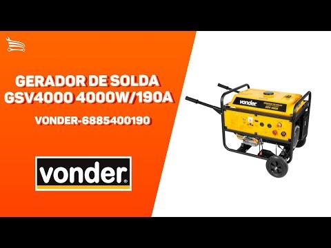 GERADOR DE SOLDA GSV4000 4000W/190A VOND - Video
