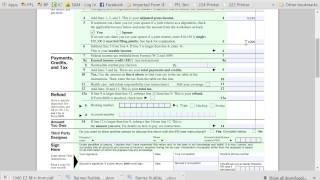 1040-EZ Tax Form Explanation