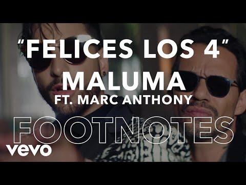 """Maluma - Felices Los 4 (Salsa Version)"""" Footnotes [English]"""
