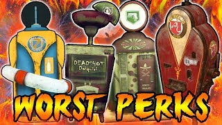 Top 5 WORST Perks in Zombies! Call of Duty Black Ops 3 Zombies, Black Ops 2 & WAW Zombies TOP 5 Perk