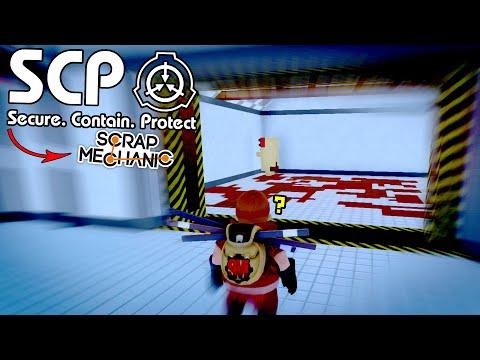 SCP Containment Breach Meets Scrap Mechanic Escape Rooms! - Scrap Mechanic Challenge Mode