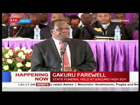 Wycliffe Oparanya praises the late Gakuru on his ardent push for Vision 2030