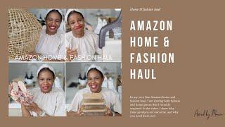 HUGE AMAZON HAUL | AMAZON/CRATE & BARREL HOME & FASHION HAUL