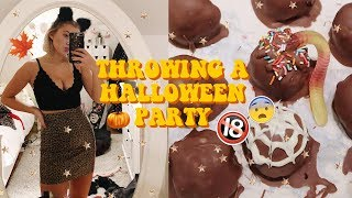 THROWING A HALLOWEEN PARTY! Baking, Decorations & More! Vlog