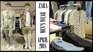 👍 Zara Men's Wear Spring Summer April 2018 Walkthrought