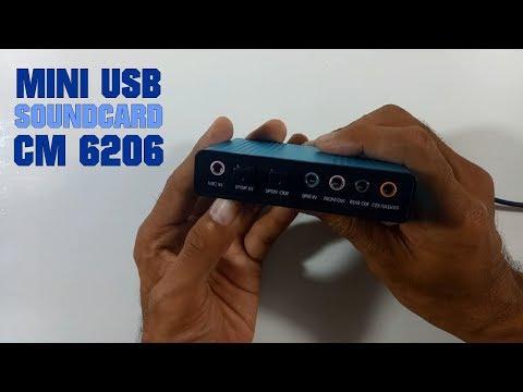 Review Mini USB SoundCard CM6206