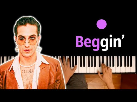 Måneskin - Beggin' ● караоке | PIANO_KARAOKE ● ᴴᴰ + НОТЫ & MIDI