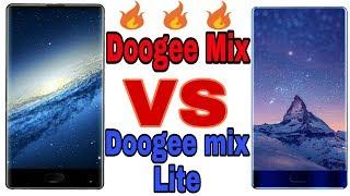 Doogee mix VS Doogee mix lite full comparison