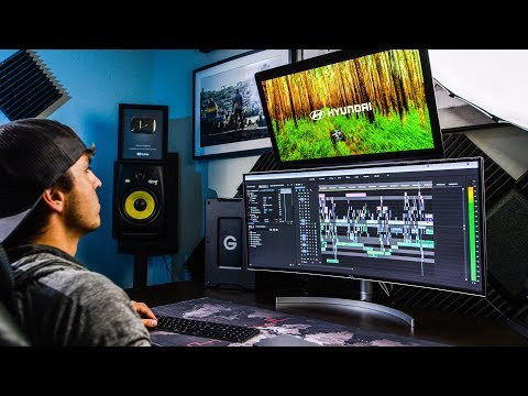 My NEW Editing Setup!  LG 38″ UltraWide Curved HDR Monitor Review