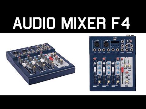 4-х Канальный Аудио Микшер F4 из Китая