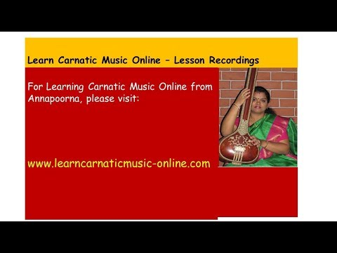 Download Carnatic Music Lessons Sarali 1 Video 3GP Mp4 FLV