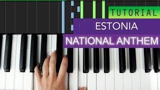 National Anthem Of Estonia Piano Tutorial