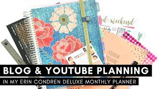MY STRATEGY FOR BLOG & YOUTUBE PLANNING | Erin Condren Deluxe Monthly Planner