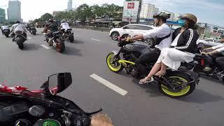 4 siêu xe kawasaki ninja H2 và đồng bọn cướp dâu ( đám cưới biker)