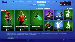 Live Boutique Fortnite Du 7 Aout