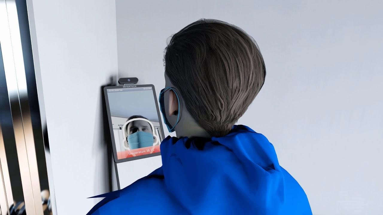 Sanitizer C Body Temperature Sensor, Face Mask & Face Scanner