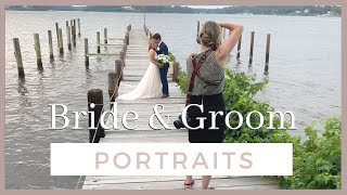 Bride And Groom Portraits Behind The Scenes On A Wedding Day