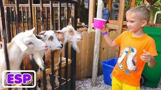 Vlad y Nikita juegan en las granjas