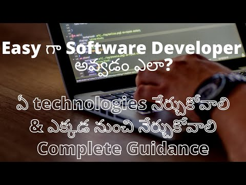 how to become software Developer in Telugu | Easy Technologies to learn