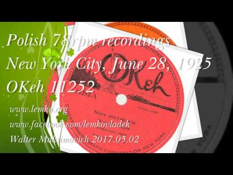 Polish 78rpm recordings, OKeh 11252, Stare przysłowia