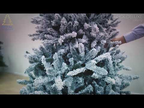 Royal Christmas Flock Tree Deluxe - Hinged kunstkerstboom 180 cm