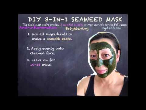 Face mask ng asul clay at honey