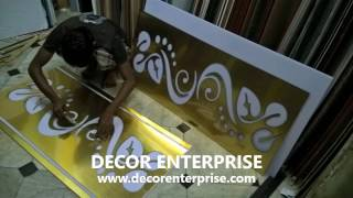 Acrylic Jali Design Fitting On Gypsum Board False Ceiling - Decor Enterprise