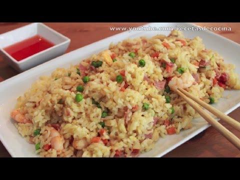 Arroz Chino Frito - Cómo hacer Arroz Tres Delicias ✅