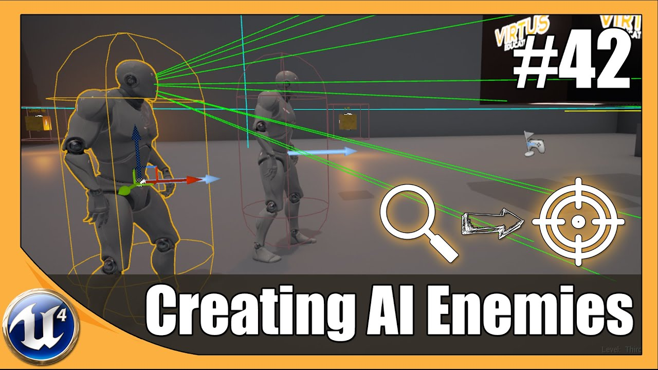 How To Create AI And Enemy Basics - #42 Unreal Engine 4 Beginner Tutorial Series