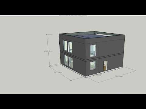 ХИ ТЕКХ  проект &кваот;КУБОДОМ&кваот; двухуровневая квартира по каркасной технологии.