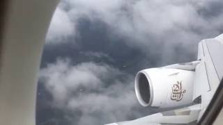 Very windy landing in Toronto Pearson Airport (Emirates A380)