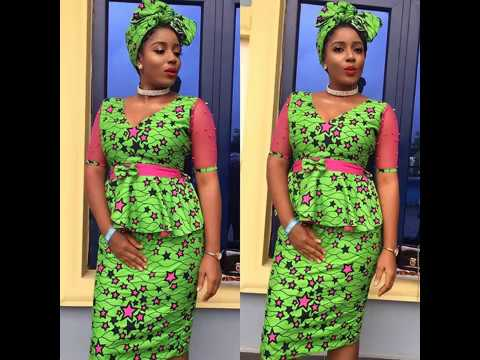 2018 Trendy Ankara Styles : Skirt and Blouse Collection