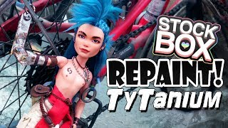 STOCK BOX Repaint! Ty Tanium Steampunk Monster High Doll OOAK Custom
