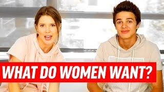 20 QUESTIONS ALL GUYS Want To Know About Girls ft. Amanda Cerny & Brent Rivera   Dating Advice Q&A
