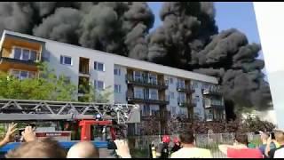 Pożar Na Pięknej We Wrocławiu,  Z Bliska.