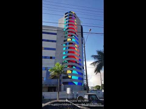 Fachada com 180m² em Painel de LED Outdoor P10