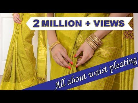 How to pleat waist pleats | How to drape a saree