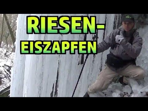 Riesen-Eiszapfen am Wasserfall im Klingelbachgraben #149