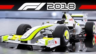 F1 2018 Brawn BGP 001 + BMW Williams FW25   CLASSIC CAR TRAILER   Formel 1 2018 Vorbesteller-Autos