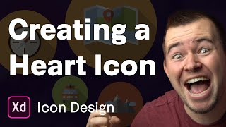 Creating A Heart Icon   Ep 24/30 [Icon Design In Adobe XD]