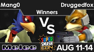 SSC16  - C9 | Mang0 (Falco) vs Druggedfox (Fox) Winners - Melee
