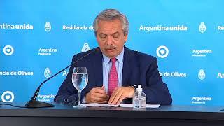 Coronavirus COVID-19 - Mensaje del presidente Alberto Fernández