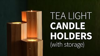 DIY Tea Light Candle Holder W/ Storage | How To